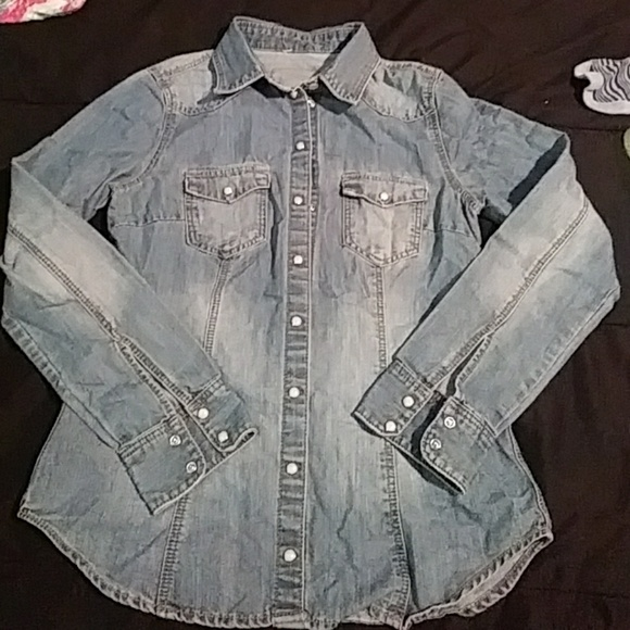 H&M Other - 3 for $15!! H&m Girls button up jean shirt size 14